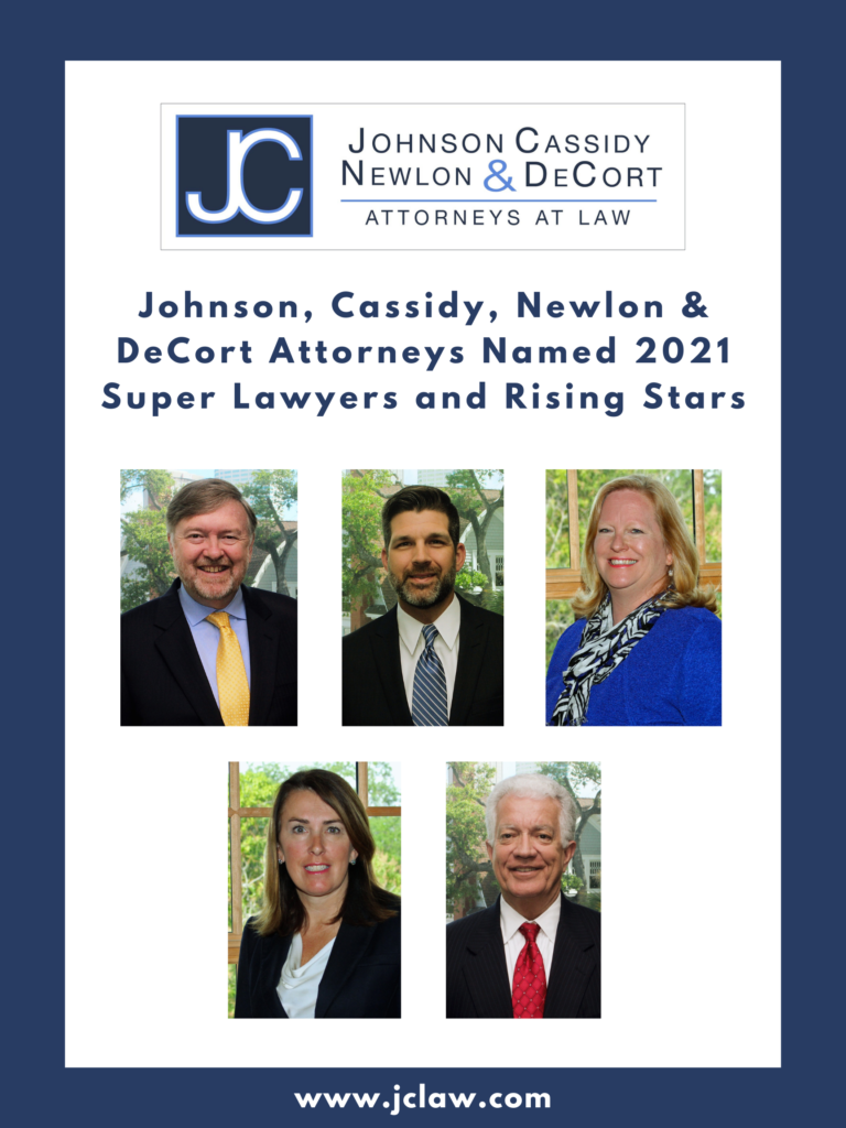 Johnson, Cassidy, Newlon & DeCort Attorneys Named to 2021 Super Lawyers and Rising Stars Lists